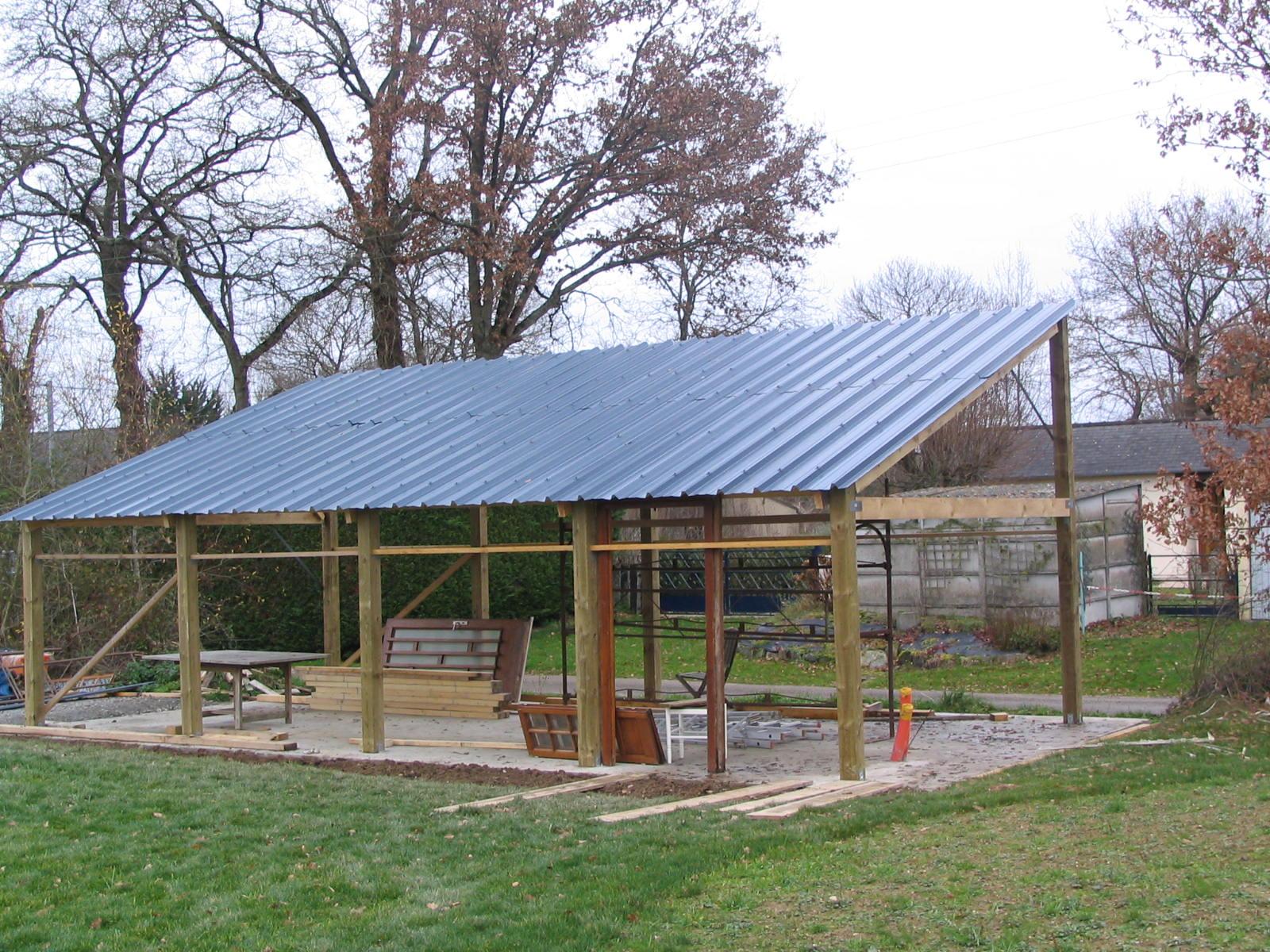 Construction d un hangar en bois x 10m construction for Construire son garage en bois