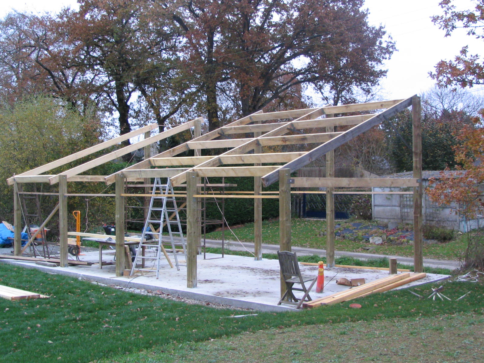 Construction d un hangar en bois x 10m construction for Comment concevoir un plan de construction