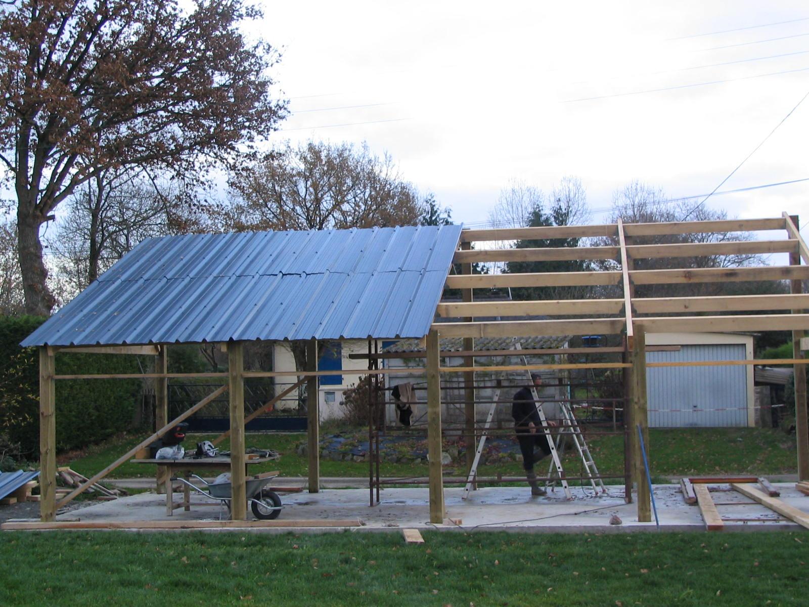 construction d un hangar en bois x 10m construction. Black Bedroom Furniture Sets. Home Design Ideas